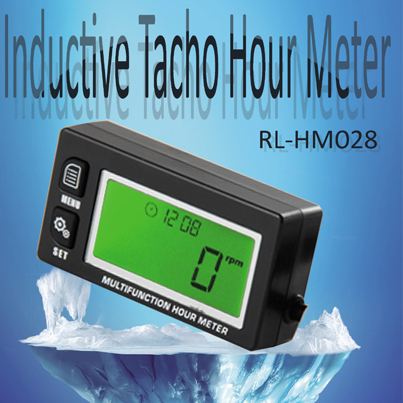Waterproof multifunction hour meter tachometer voltmeter for gas petrol engine motocross Free Shipping dla116 inline cnc processed inline gasoline engine petrol engine 116cc for gas airplanes with double cylinders