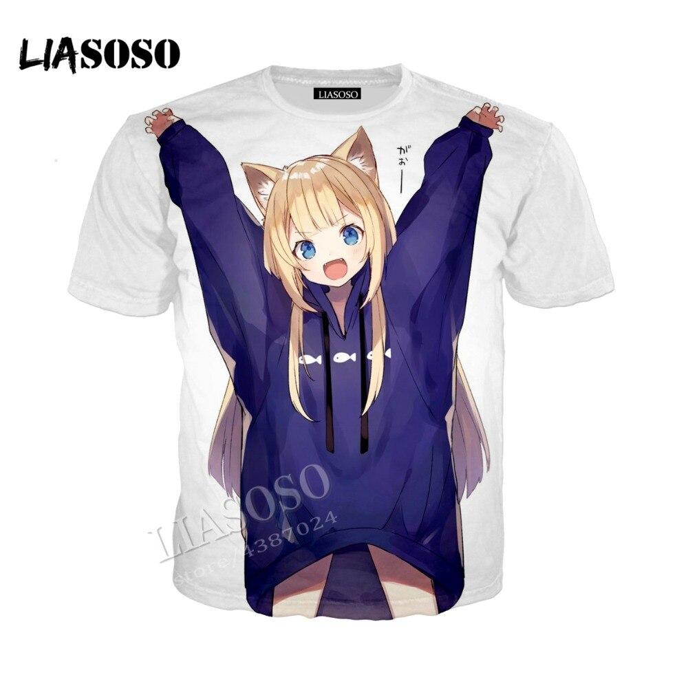 LIASOSO 3D printed comfortable polyester shirt Japanese anime cute girl hooded zipper hooded shirt men women sportswear CX254