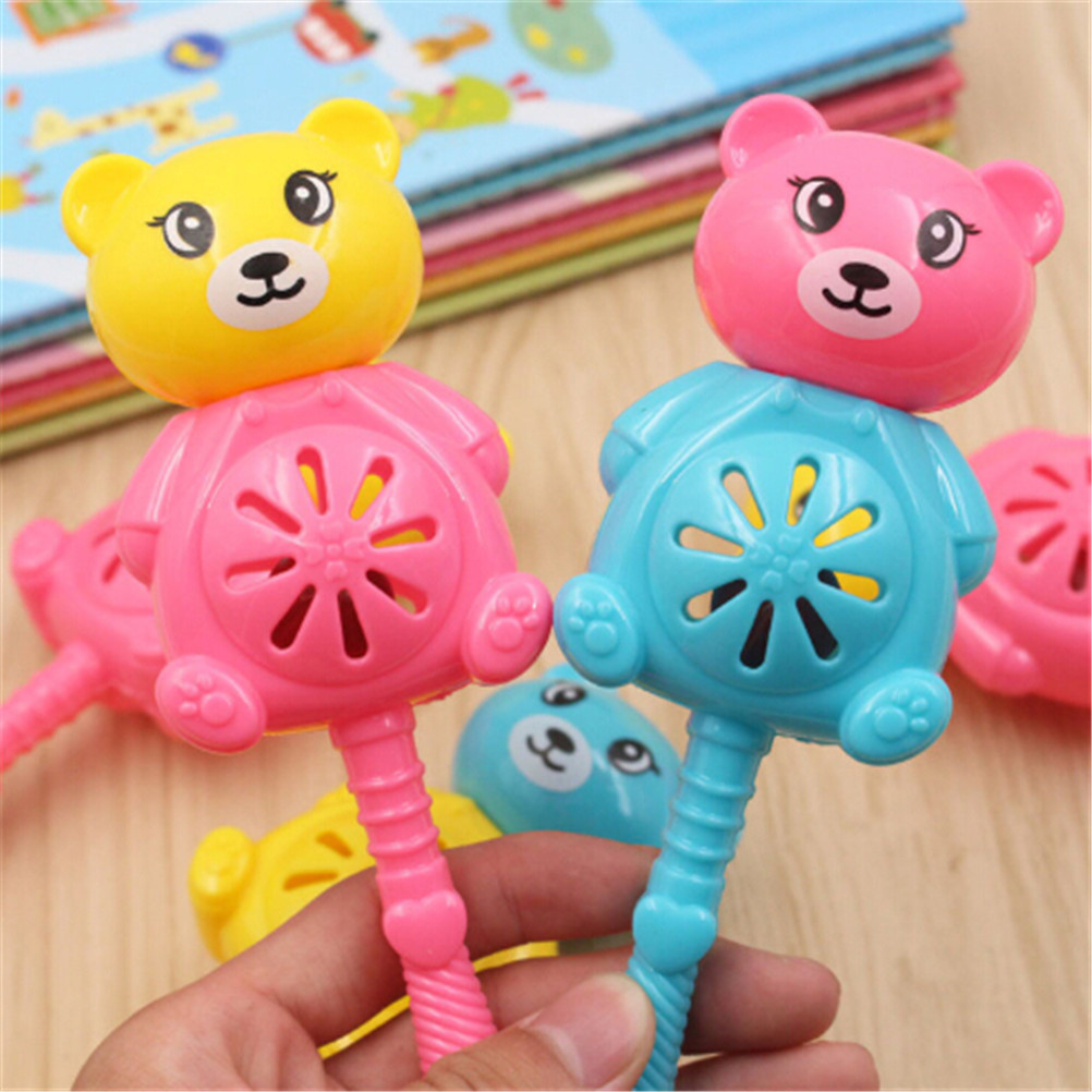 1pc Multicolor Bear Baby Rattles Baby Toy Newborn Teethers Baby Hand Rattles Combination High Quality