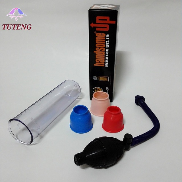 2016 New Penis Pump Handsome UP Sex Product Penis Extender Multi Function Penis Enlargement Male Feeling Sex Toy for Men