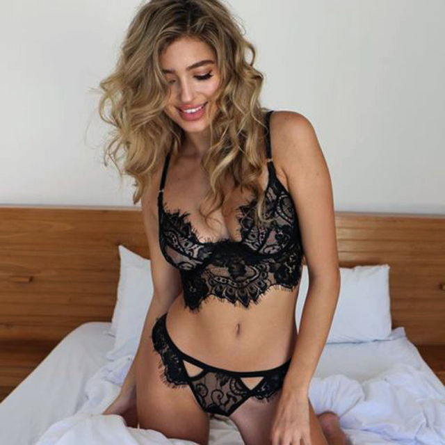 Sexy Lingerie Lace Underwear Vest Top G-string Bra Panty