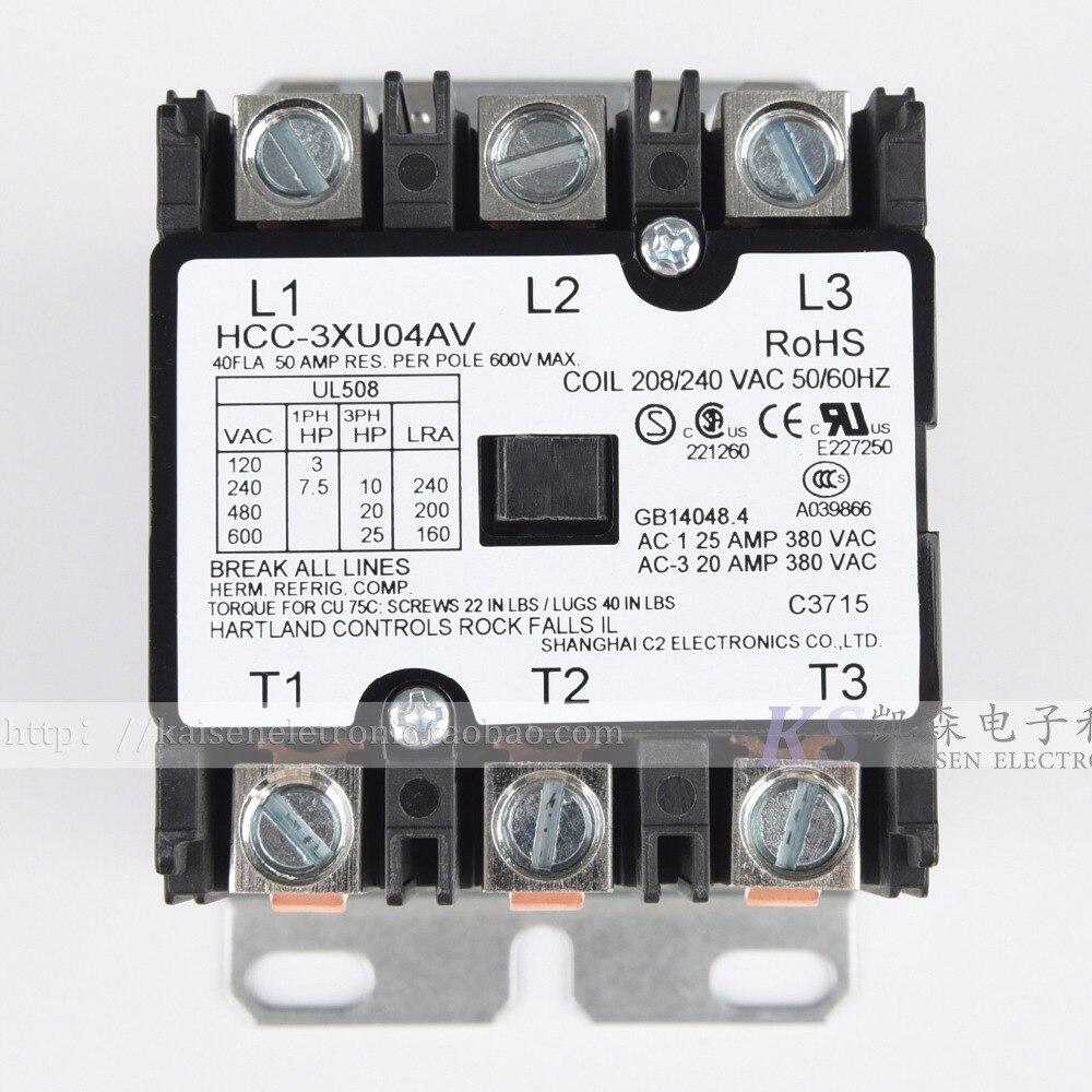 Supply 208V-240V 40A HCC-3XU04AV American AC contactor for commercial fryerSupply 208V-240V 40A HCC-3XU04AV American AC contactor for commercial fryer