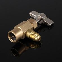 Najnowsza samochodowa R-134 czynnika chłodniczego zawór gwintowany AC narzędzie otwieracz do gwintów złącze może dozować JLD tanie tanio Vecligt CN (pochodzenie) Metal Klimatyzacja montaż Other