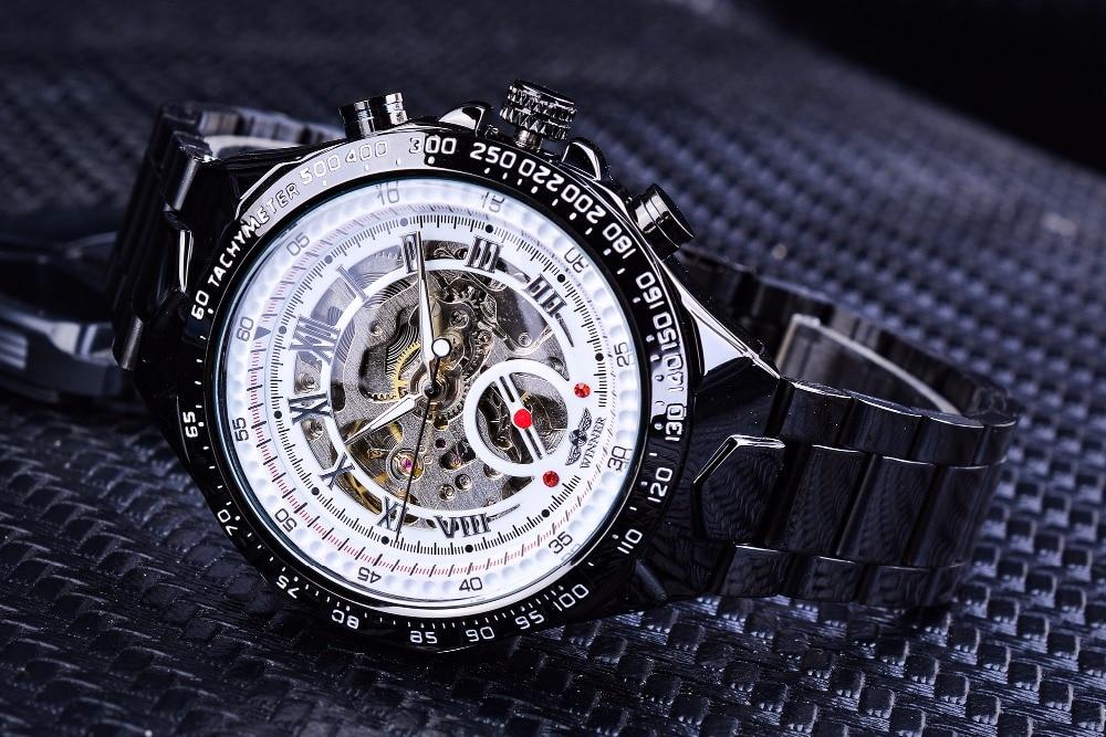 HTB1ypTXKf1TBuNjy0Fjq6yjyXXaR Winner Classic Series Golden Movement Steel Mens Skeleton Man Wrist Watch Mechanical Top Brand Luxury Fashion Automatic Watches