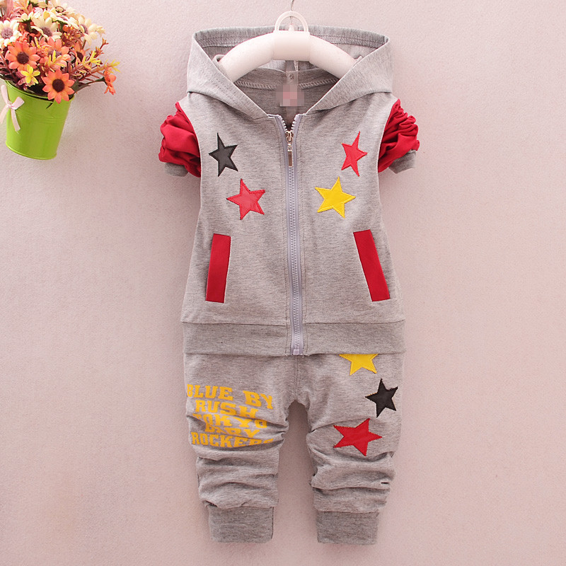 2016 Spring and Autumn Autumn Baby Small Children Suit Boy and Girls Suits Baptism Suits Outfit Pentagram Long Sleeve  Clothes new hot sale 2016 korean style boy autumn and spring baby boy short sleeve t shirt children fashion tees t shirt ages