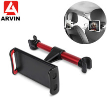 Arvin Back Seat Tablet Phone Car Holder 360 Degree Rotate Mobile Phone Stand For iPad Mini 3 4 Headrest 4-11 Inch Bracket Mount car back seat holder for 4 to 11 inch phone tablet holder 360 degree rotating tablet car holder for ipad iphone tablet stands