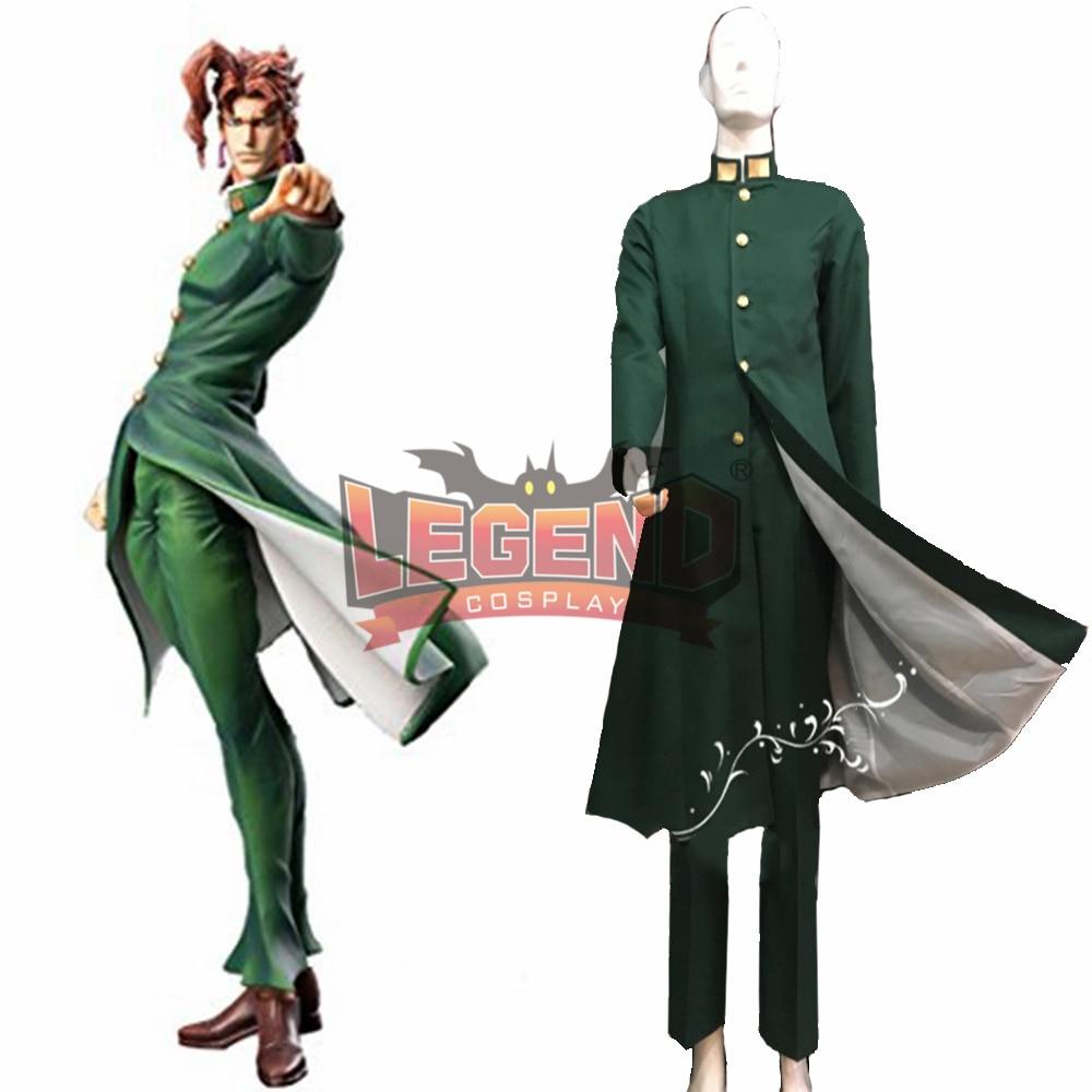 JoJo s Bizarre Adventure Kakyoin Noriaki Cosplay adult costume outfit trench man male costume custom made
