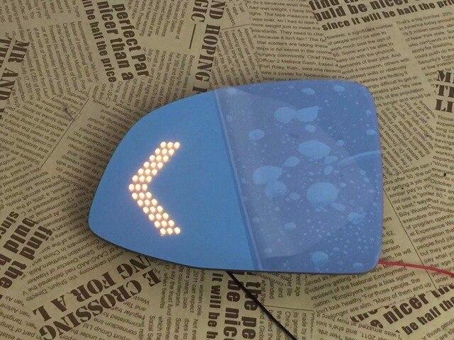 Osmrkสีฟ้าด้านหลังดูกระจกสำหรับCadillac Altisไฟฟ้าความร้อน,แบบไดนามิกไฟเลี้ยวด้านข้าง,Anti-Glaring