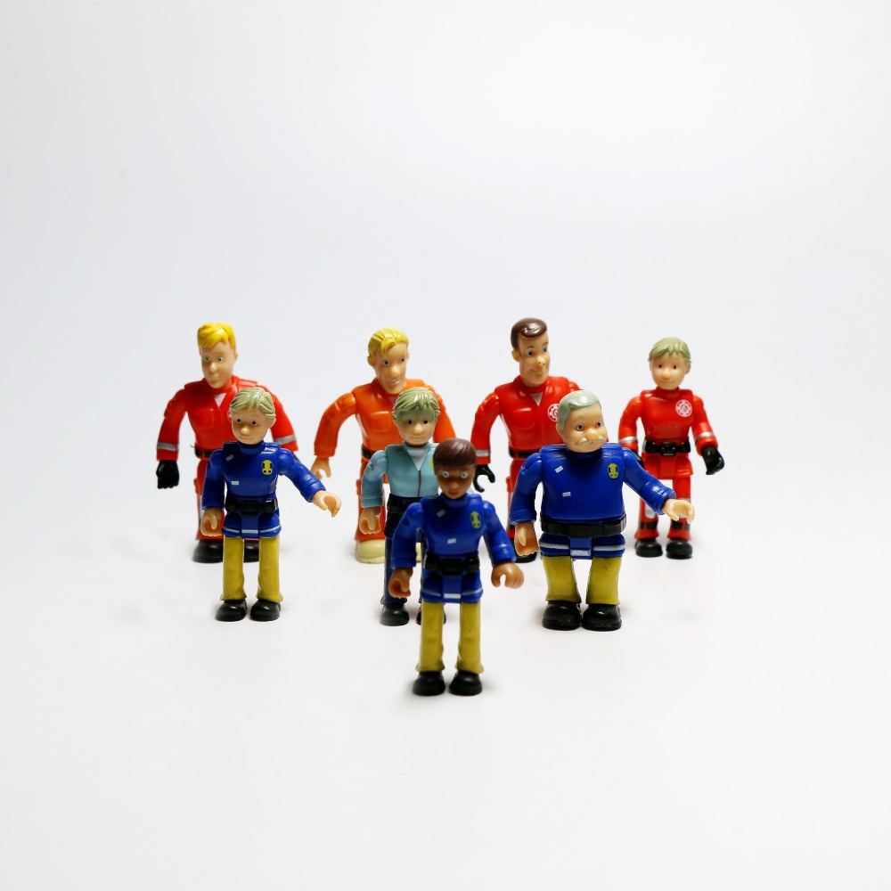 8pcs Random Cartoon Animation Peripheral Joint Movable Fireman Sam Action PVC Model Cake Decoration Toys for Kids8pcs Random Cartoon Animation Peripheral Joint Movable Fireman Sam Action PVC Model Cake Decoration Toys for Kids