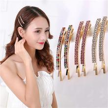 2pcs/exquisite shiny double drain drill hair accessories Ladies and children row crystal side clamp clips