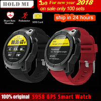 Hold Mi S958 GPS Smart Watch Heart Rate Monitor Sport Waterproof SIM Card Support Bluetooth 4