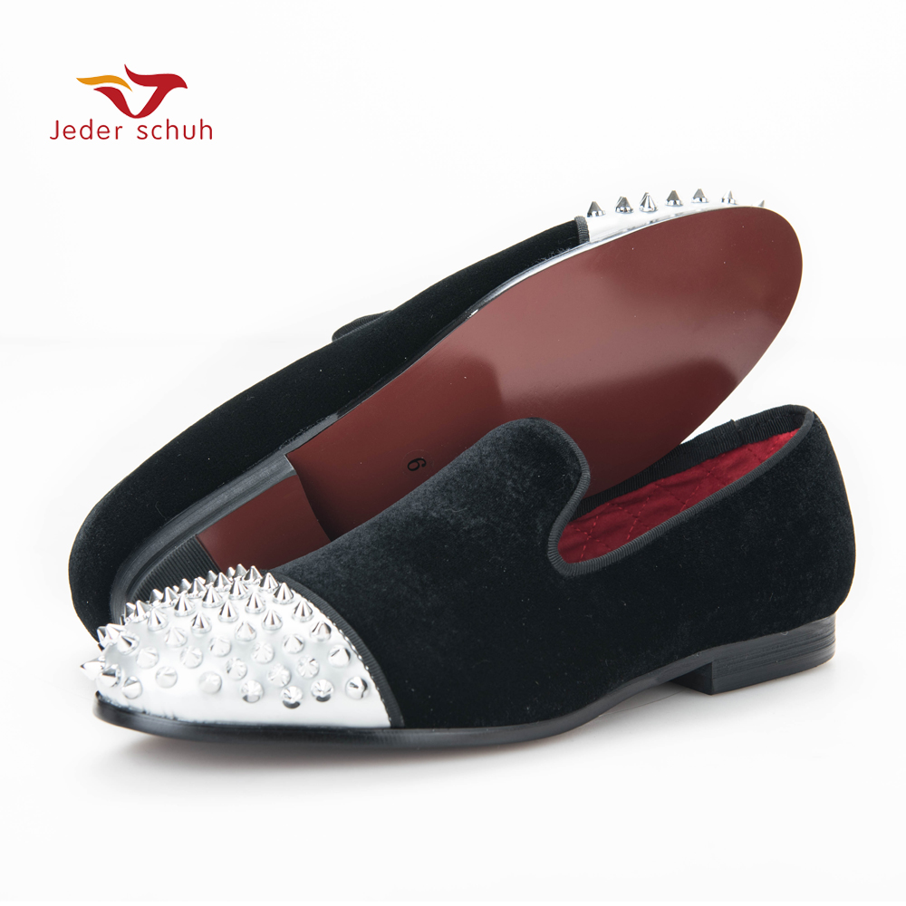 new style Handmade men velvet shoes with Rivet Leather Toe Fashion men's casual loafers smoking slipper men's flats female head teachers administrative challenges in schools in kenya