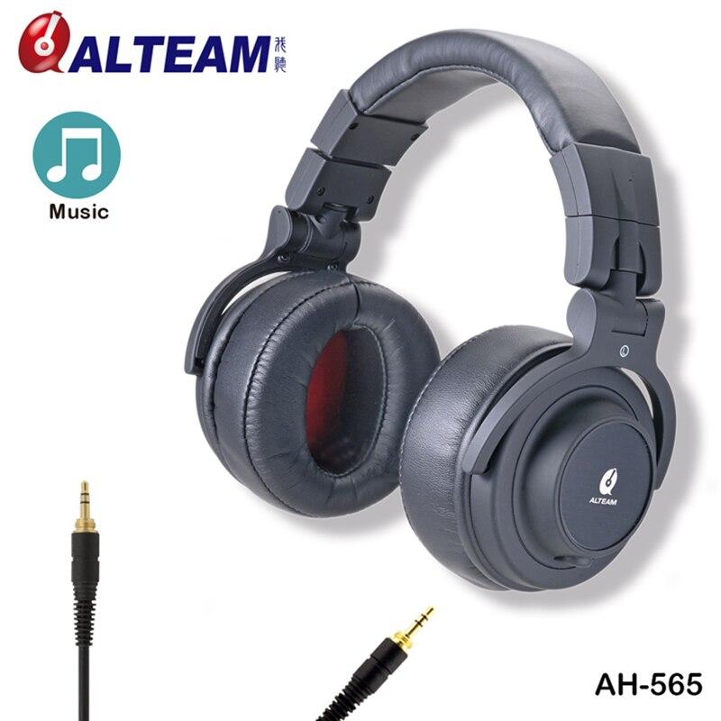 Fashion 3.5 mm Big Wired Audio Stereo Professional Hifi Bass Musical Over Ear DJ Studio Monitor Headphones with Brand Logo