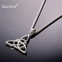 Unique Style Pendant Necklace Jewelry Gift Vintage Stainless Steel 18K Real Gold Plated Chain Necklace Men