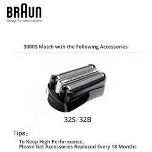 Image 5 - Braun Series 3 3000S Mens Electric Razor 3 Independently Floating Shaving Elevments Dry & Wet Electric Shaver