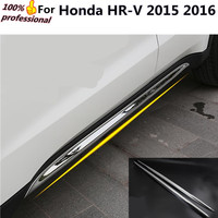 Car Styling Cover Detector ABS Chrome Side Bottom Down Door Body Trim Stick Strip Lamp Molding
