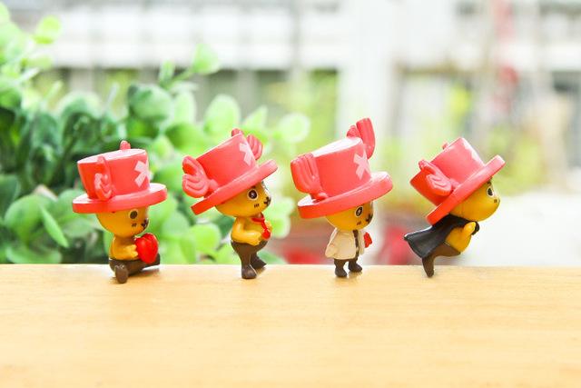 4 Pcs Set One Piece Action Figure