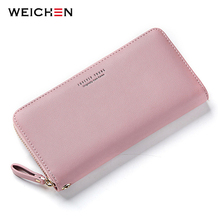 WEICHEN Wristband Women Long Clutch Wallet Large Capacity Wallets Female Purse Lady Purses Phone Pocket Card Holder Carteras cheap C7575-10 Polyester 10 cm 0 15 kg Synthetic Leather Interior Compartment Interior Zipper Pocket Interior Slot Pocket Note Compartment Zipper Poucht Cell Phone Pocket Card Holder
