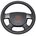 Черный Искусственная Кожа Автомобилей Руль Обложка для Geely EMGRAND EC7 EC715 EC718