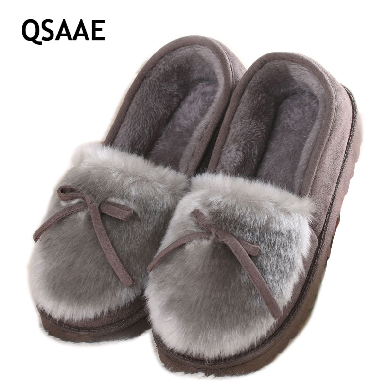 2017 wool shoes female edition winter shoes direct lazy leisure paragraph maomao warm boots with flat cotton shoes AWM92