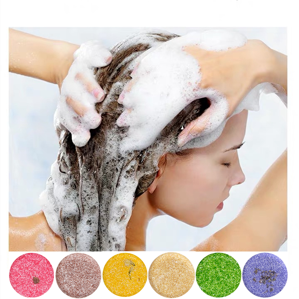 Soap Shampoo-Bar Hairs-Care Essential-Oil Nourishing Plant Handmade Anti-Dandruff Natural