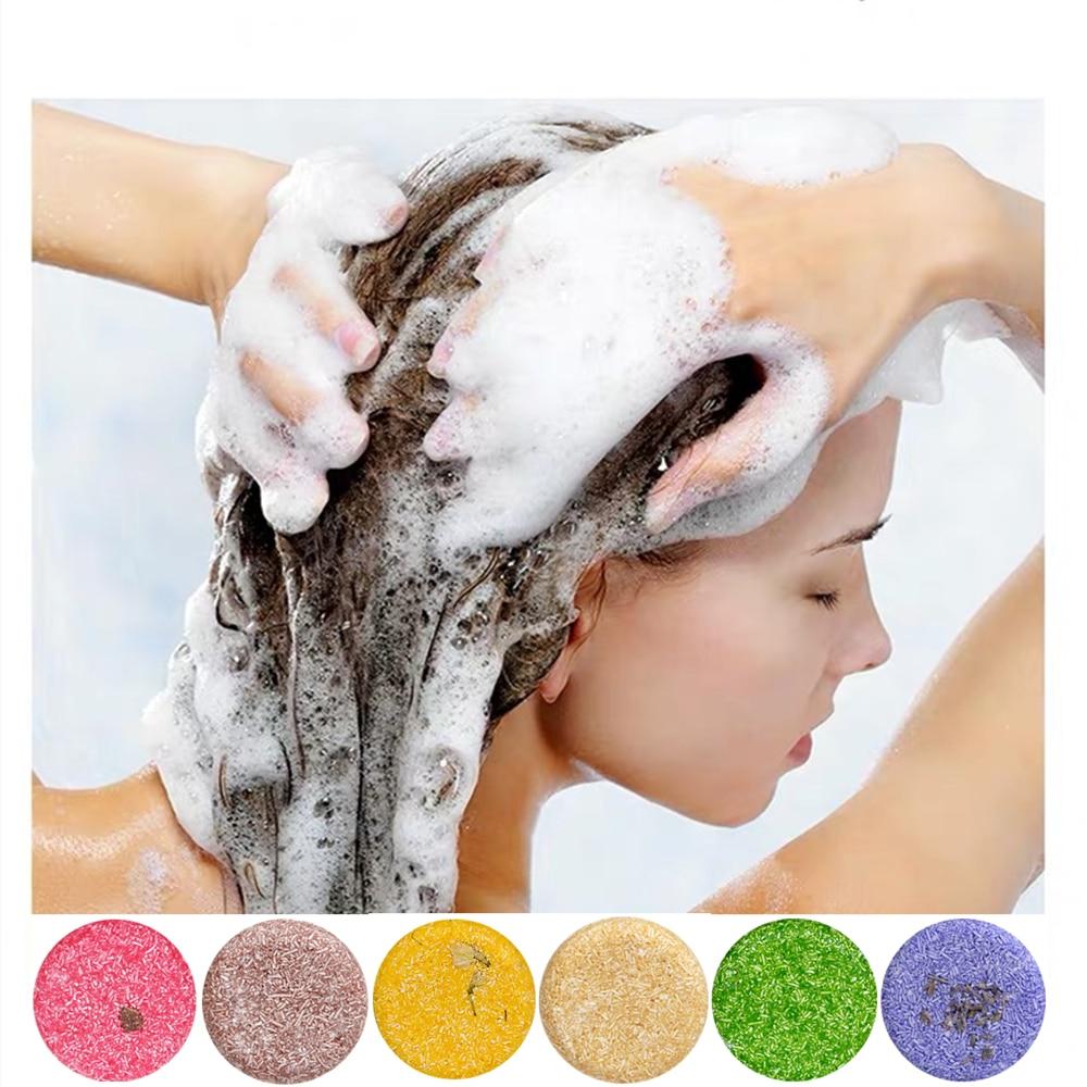 Hair Growth Shampoo Bar Handmade Soap Natural Plant Essential Oil Soaps Hairs Care Nourishing Anti Dandruff Oils Control No Box