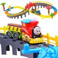 D1018 Free shipping electric rail car train children's boy toy Thomas train track suit Harmony