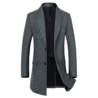 2018 Autumn New Long Men Coat Wool Excellent Quality Elegant Long Trench Coat