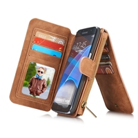 Business Style Flip Case For Samsung Galaxy S6 S7 Case Edge PU Leather Silicone Cover For