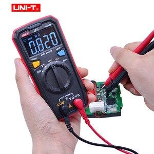 Image 3 - UNI T UT123 דיגיטלי מודד כיס גודל מגורים מודד AC DC מתח הנגד טמפרטורת NCV Tester EBTN תצוגה