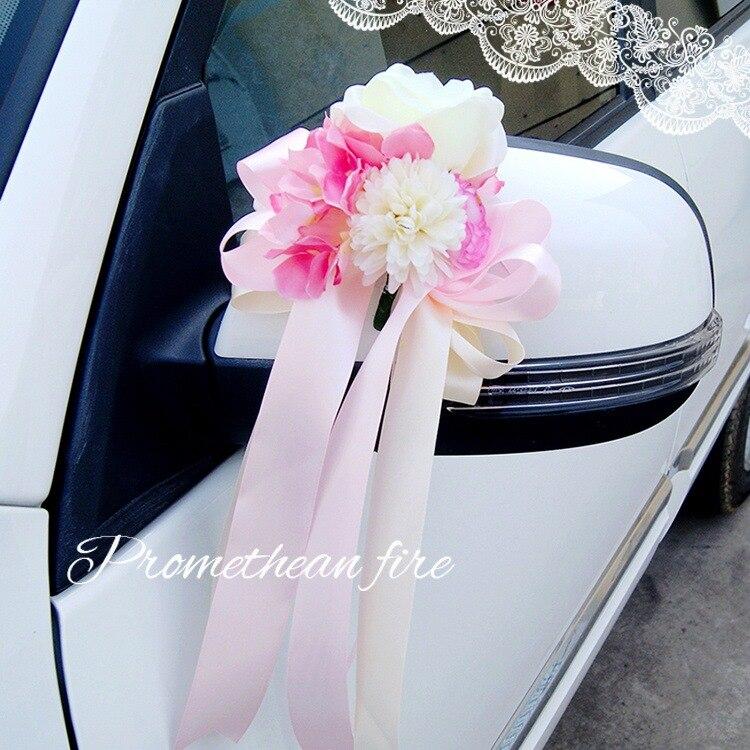 Us 1775 26 Offsimulasi Bunga Simpul Pernikahan Hiasan Mobil Cermin Gagang Pintu Perhiasan Bunga Bride Mengapung Hias Desain Mobil Bunga In Buatan