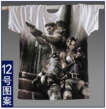 [XHTWCY]2018 High Quality Resident Evil 4 Biohazard Leon Kennedy Grey Spandex Fabric T Shirt Cosplay Costume for summer