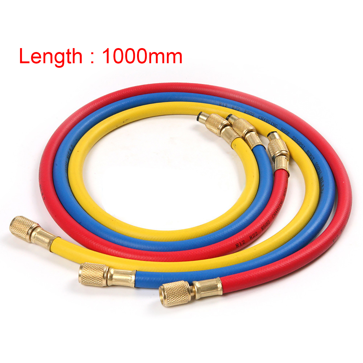3pcs Refrigeration Charging Hose Practical High Pressure Automobile Air Conditioner Hose For Car R12 R22 R502 Refrigerant Mayitr
