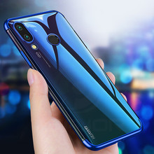 Cover For Huawei P Smart 2019 Case Silicon mask soft plating TPU shockproof Transparent bumper on case coque
