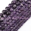 "Natural Dream Amethyst Smooth Round Gem Stone Beads Strand 15""6,8,10mm For DIY Necklace Bracelat Jewelry Making,Free Shipping"