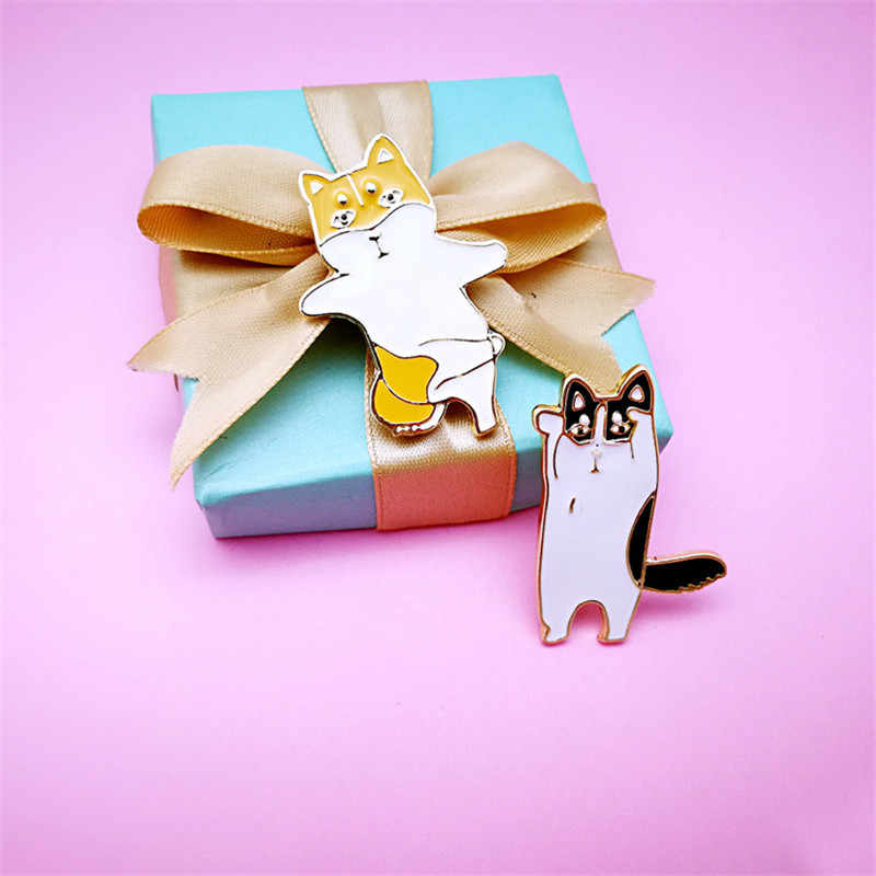 DoreenBeads 2018 moda japoński styl kreatywny Cartoon Teddy pies zwierzęta odznaki ikony na plecaku sukienka koszula dla kobiet 1 PC