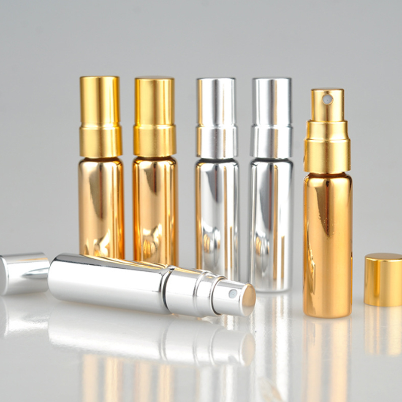 5ml Metal Refillable Perfume Bottle With Spray&Empty Cosmetic Containers With Atomizer Portable Travel Accessories 1pcs