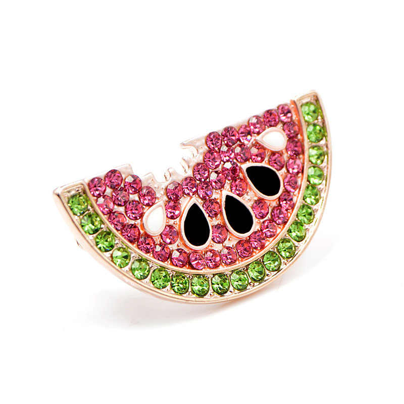 CINDY XIANG Summer Style Rhinestone Watermelon Brooches for Women Cute Fruit Brooch Pin Kids Backpack Badges Fashion Jewelry