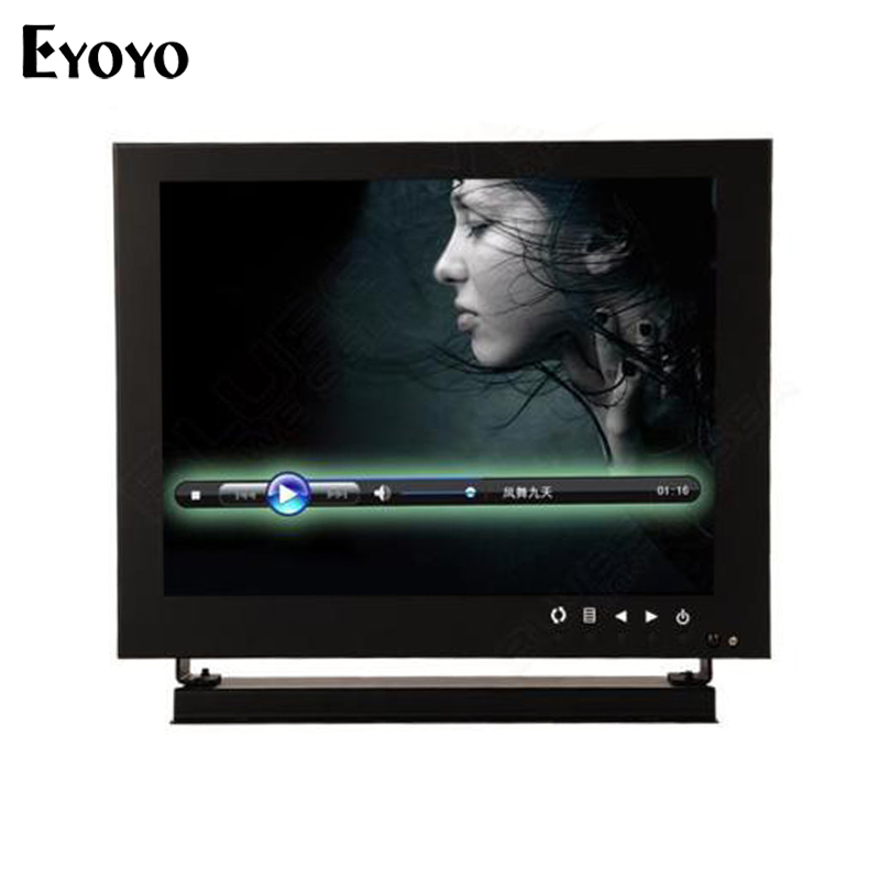 Eyoyo 8 1024*768 HD Camera Monitor HDMl VGA BNC For Lab Home Safety CCTV DVD PC TFT LCD Monitor with Remote Control escam t10 10 inch tft lcd remote color video monitor screen with vga hdmi av bnc usb for pc cctv home security system camera