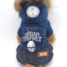 Череп печати собака одежда зима двойной сгущать щенок балахон с капюшоном осень теплое пальто для Собаки куртки Костюмы для малых и средних