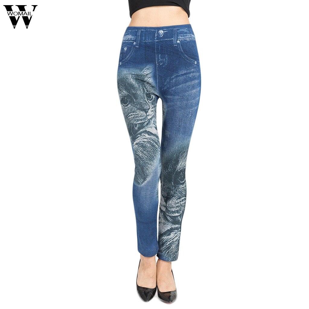 2019 printemps et été nouveau taille haute imprimé Jeans femmes rue Bandage Jeans Jeans dames pantalons serrés Jeans dames nouveau
