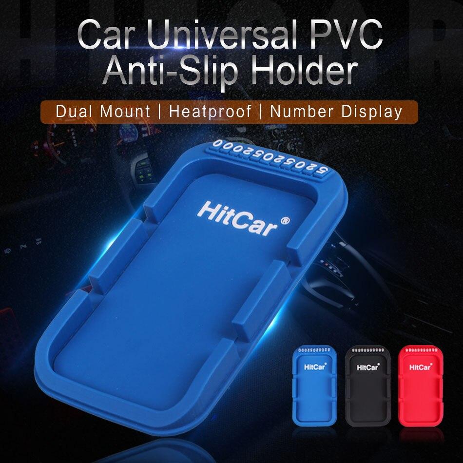 En el escritorio de coche tablero antideslizante de PVC de goma de silicona Pad Stand doble ranura de clip de soporte para montura para PSP tableta GPS móvil iPhone