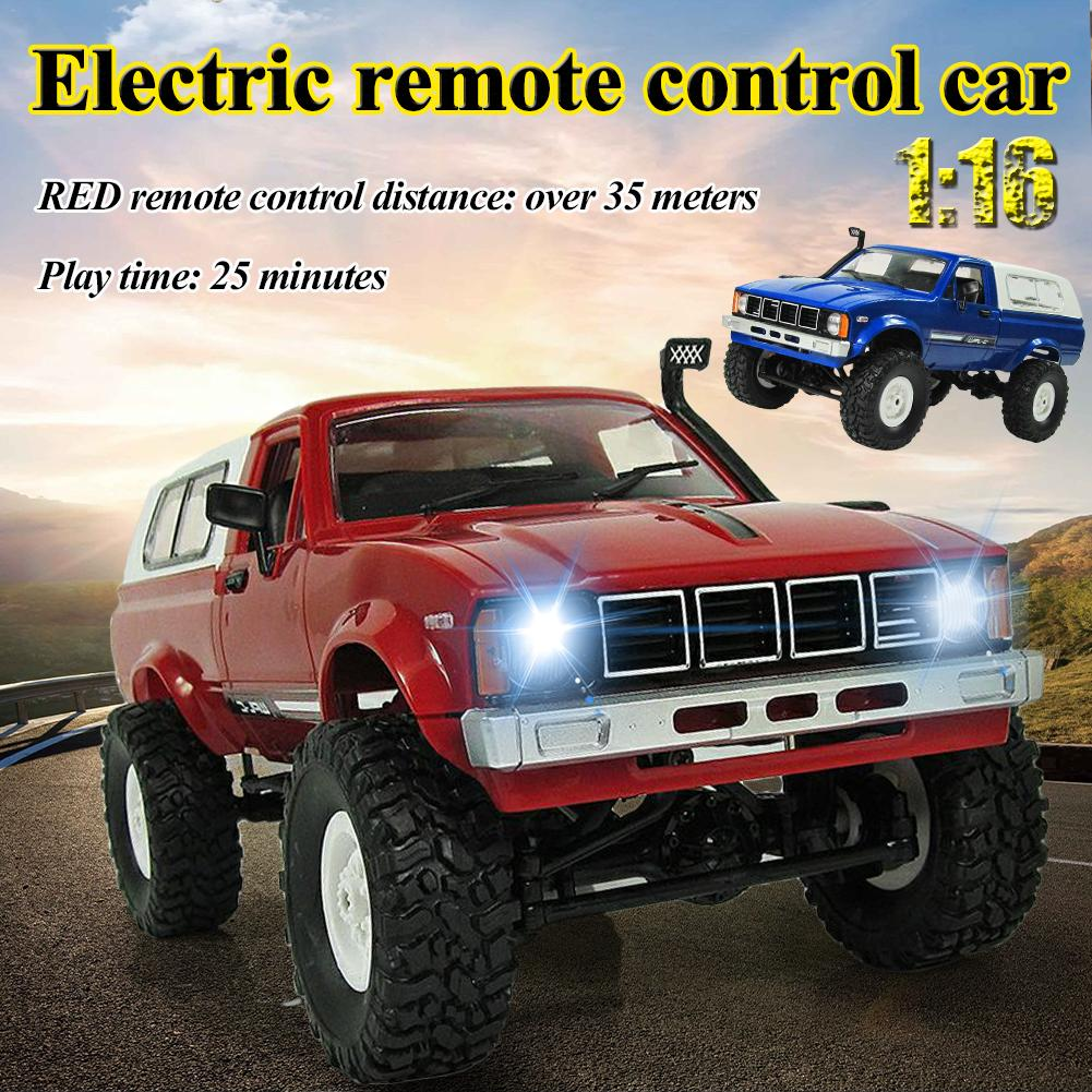WPL C-24 Jeep 4WD RC CAR Remote Control Car Toy 1:16 Model Car 2.4G OFF-Road RC High Speed Truck RTR Car for Boys