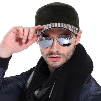 [AETRENDS] 2017 Winter Flat Military Hat Sailor Hats for Men Flat Captain Caps Z-3167