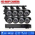 AHD 8-КАНАЛЬНЫЙ ВИДЕОНАБЛЮДЕНИЯ Система 1080 P HDMI DVR 960 P 2500TVL Открытый Всепогодный CCTV Камеры комплект Главная Безопасность Системы Видеонаблюдения комплект