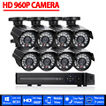 Sistema de CCTV 8CH AHD 1080 P HDMI DVR 960 P 2500TVL Exterior Impermeable conjunto DE Cámaras De CCTV de la Seguridad Casera Del Sistema de Vigilancia Kit