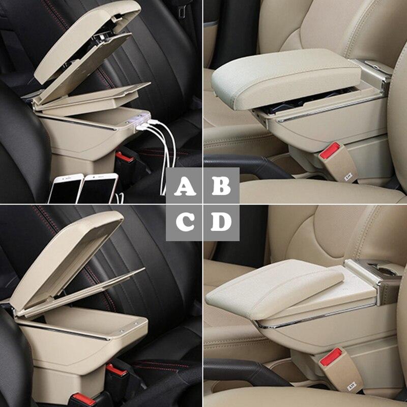 Pour Chevrolet Chevy Cruze 09-14 accoudoir boîte centre boîte de rangement avec support de verre cendrier intérieur accessoires pièces décoration