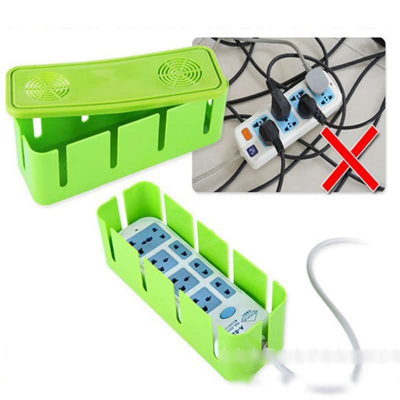Practical Power Cord Socket Receive A Case Cable Manager Organizer Heat Release Hole Box Dustproof Safety Clean Tidy Accessorie