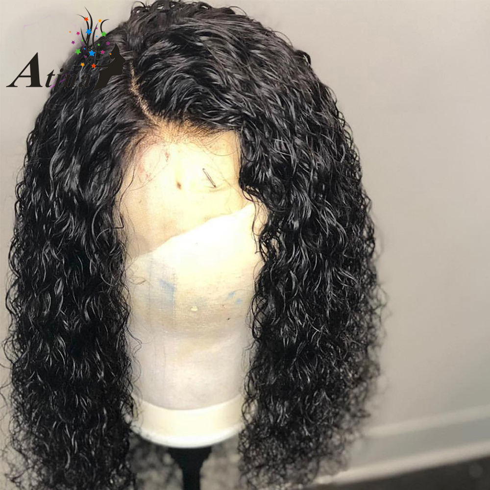 130 Density 13 6 Curly Lace Front Human Hair Wigs Curly