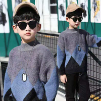 NEW 2018 Autumn Winter Infant Baby Boys Sweater Children Kids Knitted Pullovers Sweaters 3T 12 Year 2 Colors Warm Outerwear